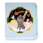 Night Flight/Silver Poodle baby blanket