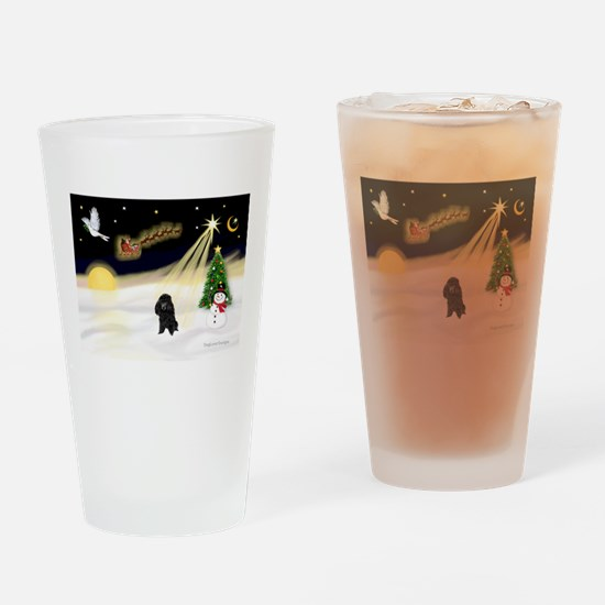 Night Flight/Poodle (min) Drinking Glass