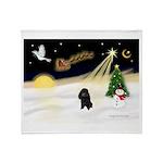 Night Flight/Poodle (min) Throw Blanket