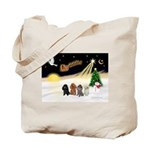 Night Flight/4 Poodles Tote Bag