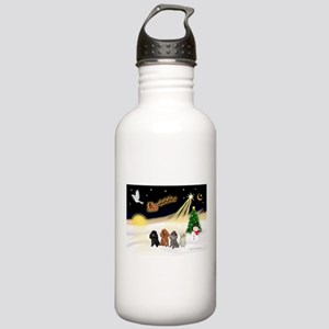 Night Flight/4 Poodles Stainless Water Bottle 1.0L