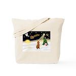 Night Flight/Apricot Poodle ( Tote Bag