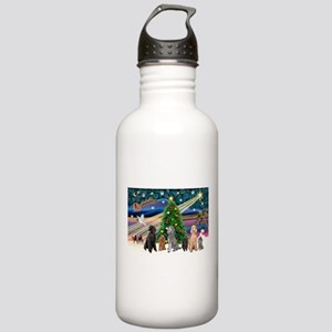 XmasMagic-6 Poodles Stainless Water Bottle 1.0L