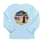 XmasMagic/2 Std Poodles Long Sleeve Infant T-Shirt