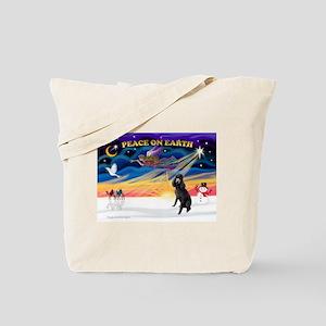 XmasSunrise/Std Poodle Tote Bag