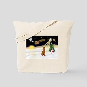 Night Flight/Std Poodle (blk) Tote Bag