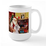 Santa's Std Poodle(w) Large Mug