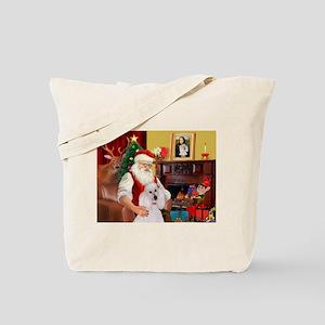 Santa's Std Poodle(w) Tote Bag