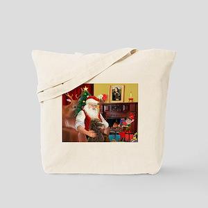 Santa's Std Poodle(c) Tote Bag