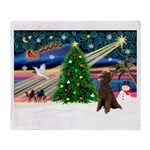 XmasMagic/Poodle (ST-ch) Throw Blanket