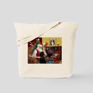 Santa's Poodle (ST-B4) Tote Bag