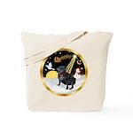 Night Flight/Pug (black) Tote Bag