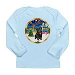 Xmas Musc 3/Cavalier Long Sleeve Infant T-Shirt