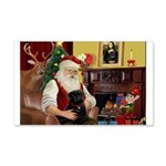 Santa's Black Pug 22x14 Wall Peel