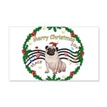 XmasMusic1MC/Pug 11 22x14 Wall Peel
