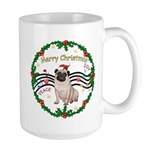 XmasMusic1MC/Pug 11 Large Mug