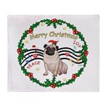 XmasMusic1MC/Pug 11 Throw Blanket