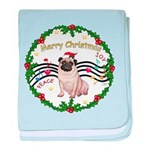 XmasMusic1MC/Pug 11 baby blanket