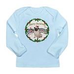 XmasMusic1MC/Pug 11 Long Sleeve Infant T-Shirt