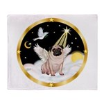 Night Flight/ Pug Throw Blanket