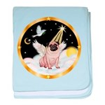 Night Flight/ Pug baby blanket