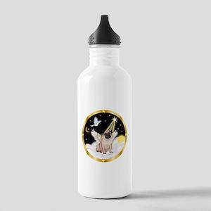 Night Flight/ Pug Stainless Water Bottle 1.0L