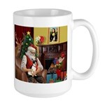 Santa's Rat Terrier Large Mug
