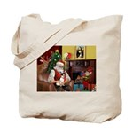 Santa's Rat Terrier Tote Bag