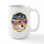 XmasStar/Rat Terrier Large Mug
