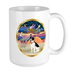 XmasStar/Rat Terrier Large Mug