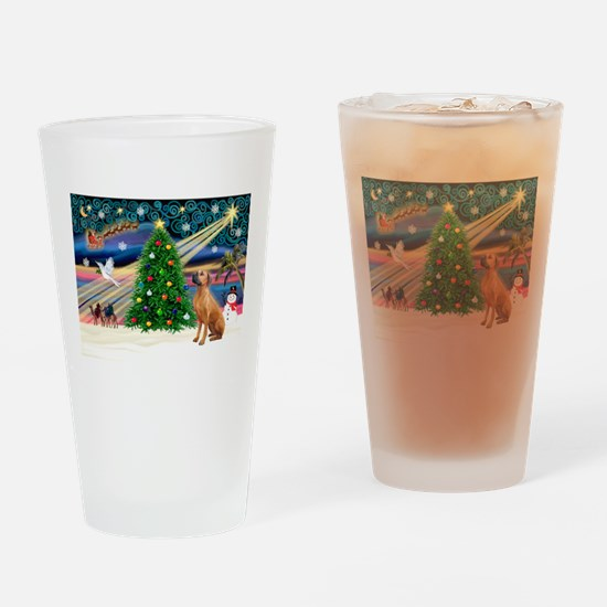 XmasMagic/Rhodesian RB Drinking Glass
