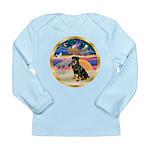 XmasStar/Rottie #3 Long Sleeve Infant T-Shirt