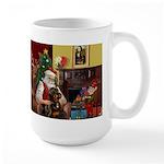 Santa's Rottweiler Large Mug