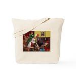 Santa's Rottweiler Tote Bag