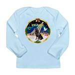 XmasSunrise/Rottweiler Long Sleeve Infant T-Shirt