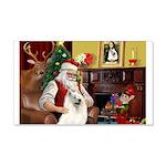 Santa's Samoyed 22x14 Wall Peel