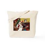 Santa's Samoyed Tote Bag
