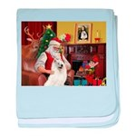Santa's Samoyed baby blanket