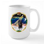 XmasSunrise/Schipperke Large Mug