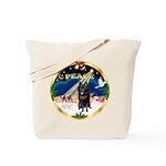 XmasSunrise/Schipperke Tote Bag