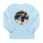 XmasSunrise/Schipperke Long Sleeve Infant T-Shirt