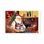 Santa's 2 Schnauzers 22x14 Wall Peel