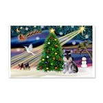Xmas Magic & Schnauzer Puppy 22x14 Wall Peel