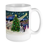 Xmas Magic & Schnauzer Puppy Large Mug
