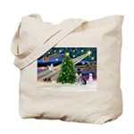Xmas Magic & Schnauzer Puppy Tote Bag