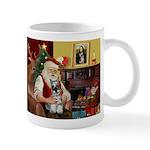 Santa's Mini Schnauzer Mug