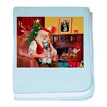 Santa's Mini Schnauzer baby blanket