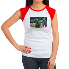 XmasMagic/Schnauzer (W) Women's Cap Sleeve T-Shirt