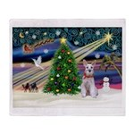XmasMagic/Schnauzer (W) Throw Blanket