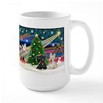 XmasMagic/2 Scotties (P3) Large Mug